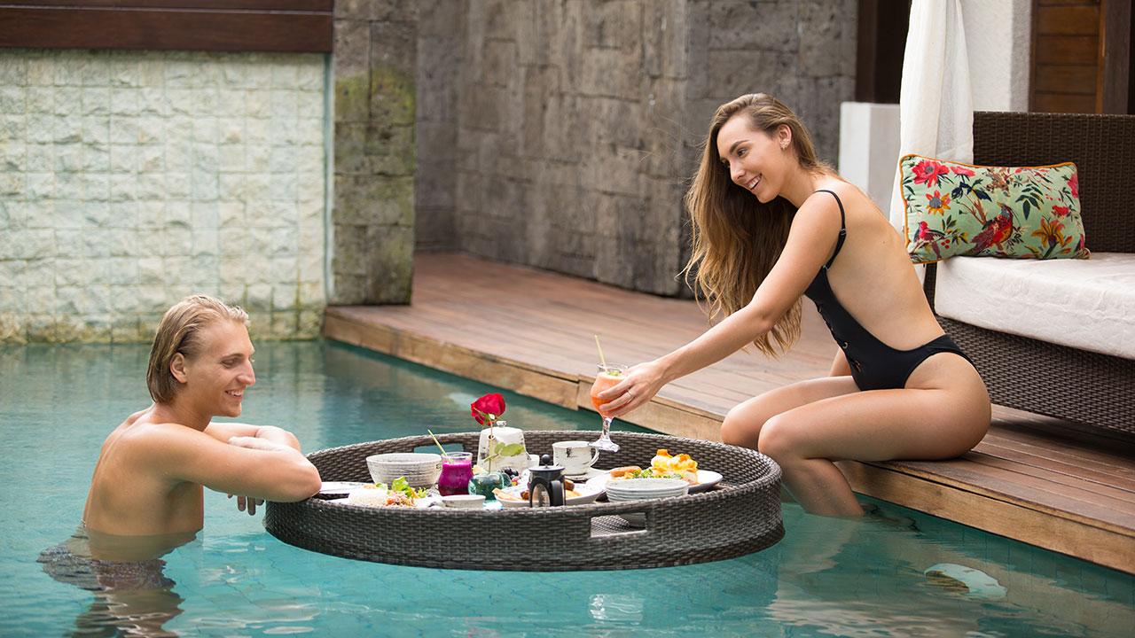 Floating Breakfast Berry Amour Villas