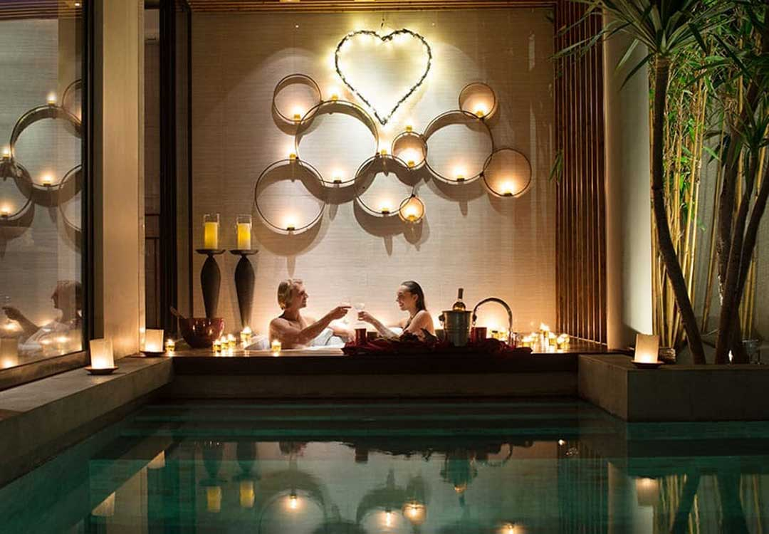 romantic bath ritual