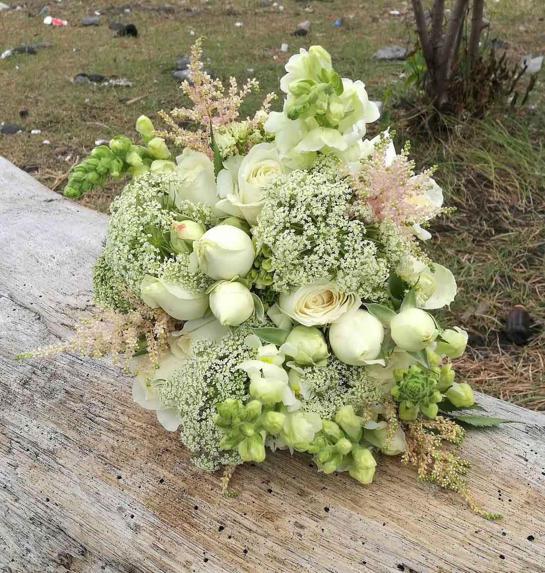 green spot flower bali