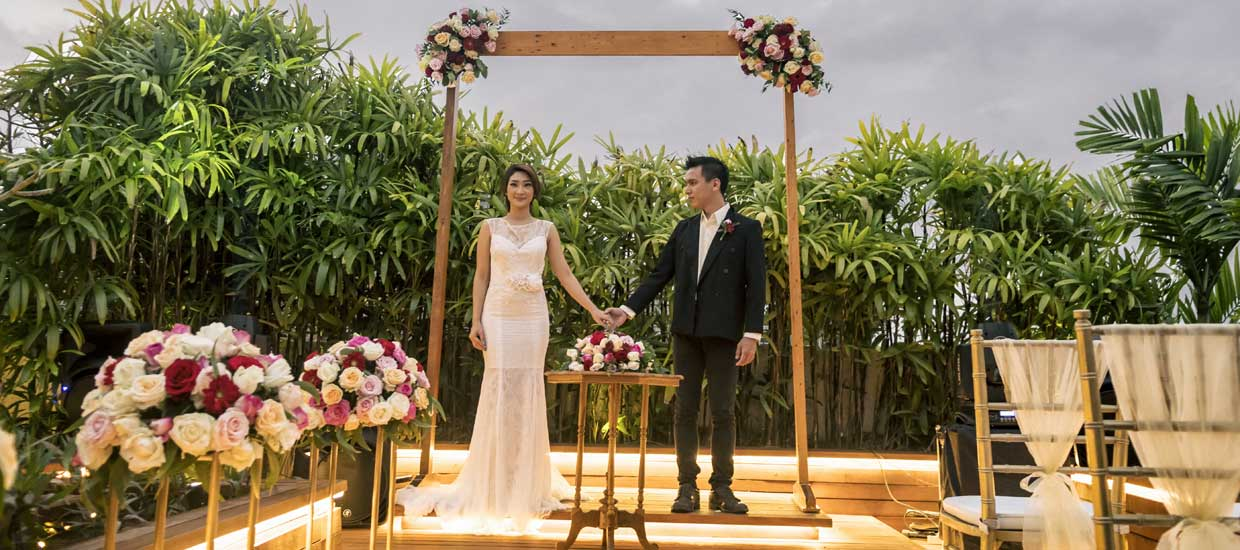 intimate wedding blessing ceremony berry amour villas