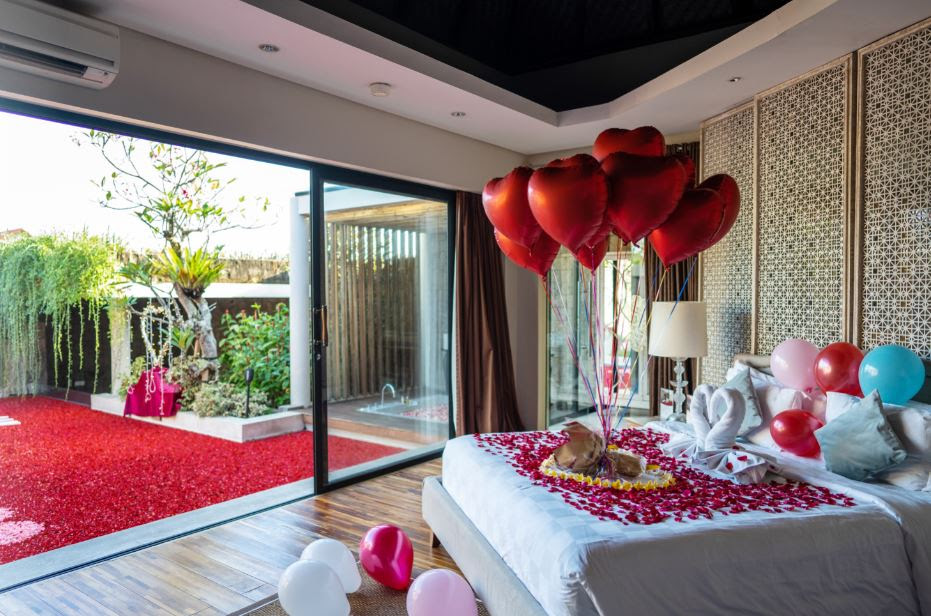 Bali Romantic Villas Proposal Decorations